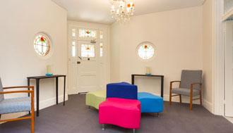 Interior view of Lotus Medics waiting room